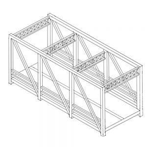 Industrial bridge sketch