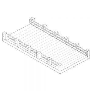 Modular steel bridge sketch